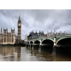 Topný obraz - Deštivý Londýn