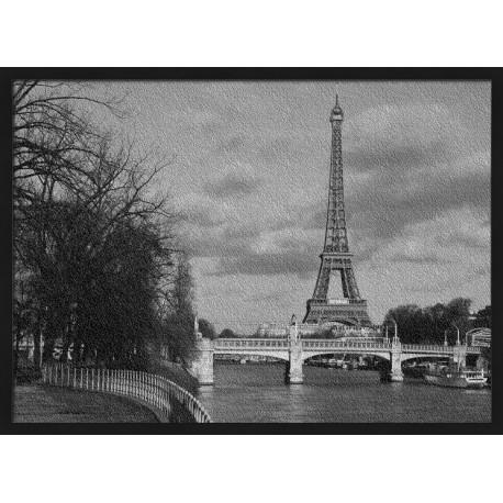 Topný obraz - Černobílá Paříž
