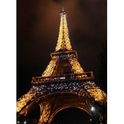 Topný obraz - Noční Eiffelova věž