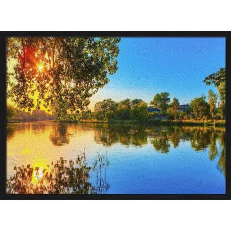 Topný obraz - Rybník