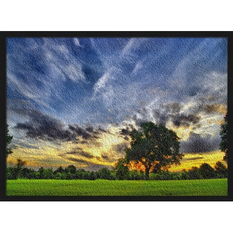 Topný obraz - Strom při západu Slunce