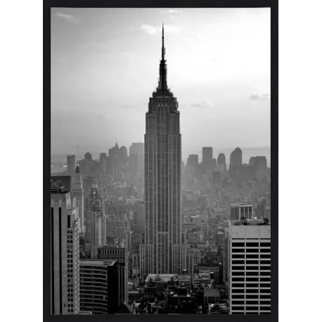 Topný obraz -New York Empire State Building černý rám