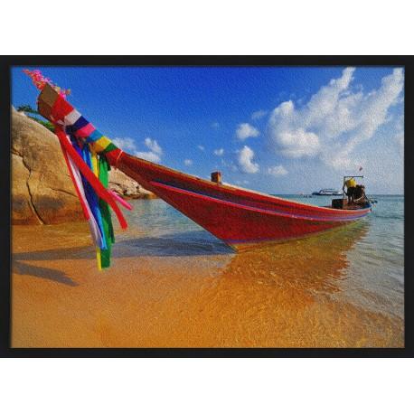 Topný obraz - Duhový člun
