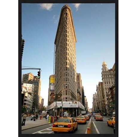 Topný obraz - New York Flatiron černý rám