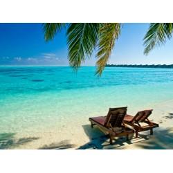 Topný obraz - Lehátka na pláži