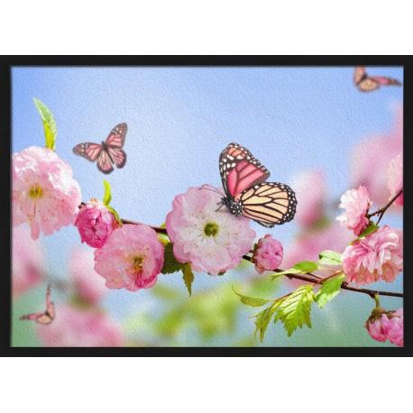 Topný obraz - Motýl na rozkvetlém stromě