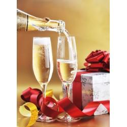 Topný obraz - Sklenky šampaňského