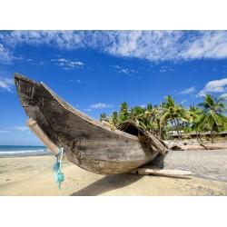 Topný obraz - Loď na pláži