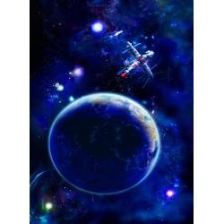Topný obraz - Modrá planeta
