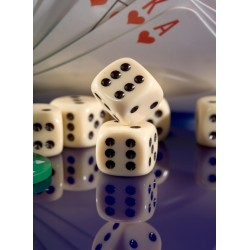 Topný obraz - Casino kostky