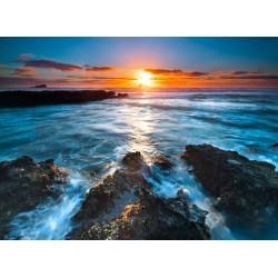 Topný obraz - Pobřeží se západem slunce