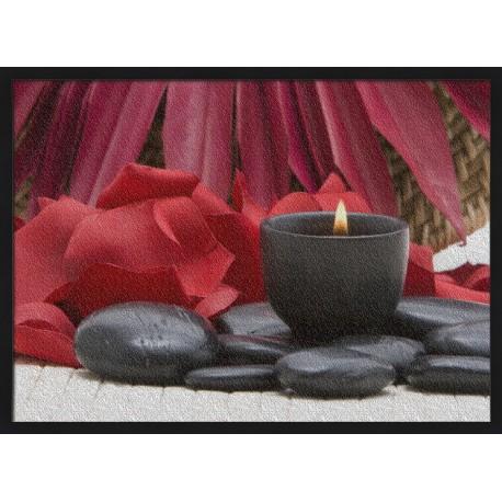 Topný obraz - Lávové kameny a svíčka