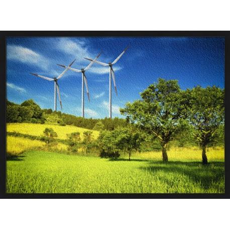 Topný obraz - Větrné elektrárny na louce