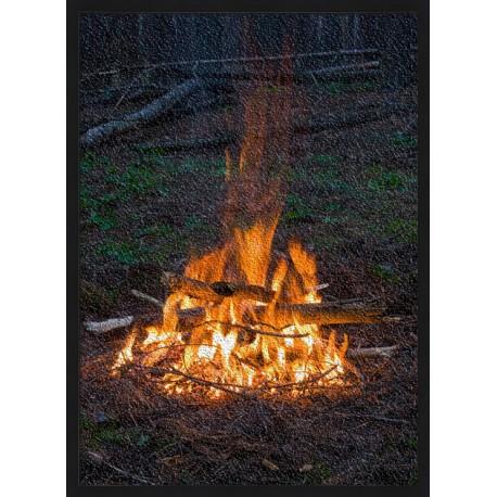 Topný obraz - Táborový oheň