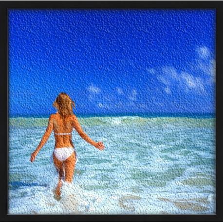 Topný obraz - Dívka v moři