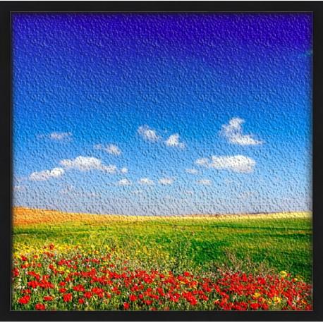 Topný obraz - Makové pole
