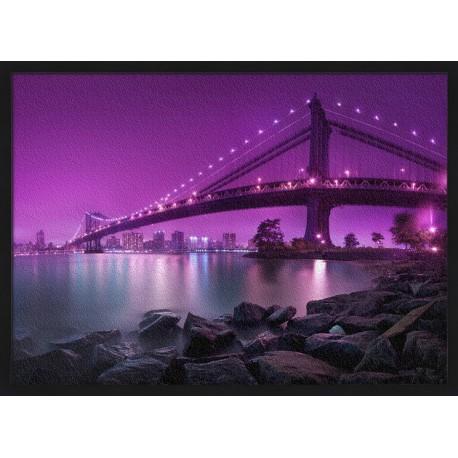 Topný obraz - Most Manhattan - černý rám