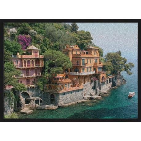 Topný obraz - Vesnička na útesu