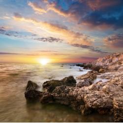 Topný obraz - Západ slunce na útesu