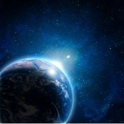 Topný obraz - Země
