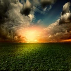 Topný obraz - Vycházející slunce