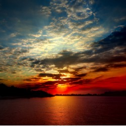 Topný obraz - Západ slunce nad mořem
