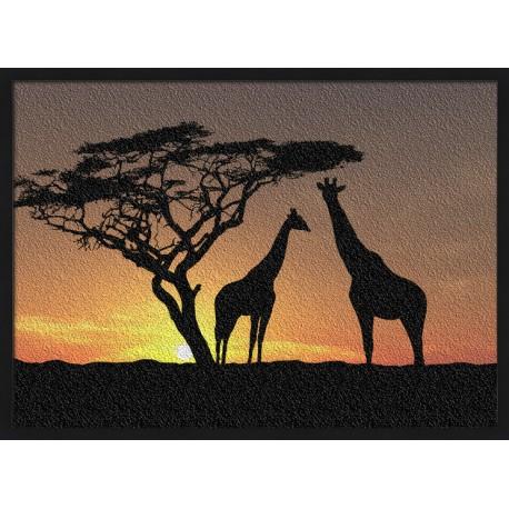 Topný obraz - Silueta žiraf