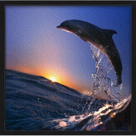 Topný obraz - Delfín ve vlnách