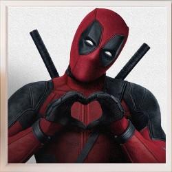 Topný obraz - Deadpool -  250W - 530 x 530 mm