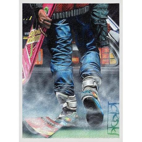 Topný obraz - Marty McFly -  180W - 580 x 380 mm