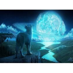 Topný obraz - Vlk a měsíc