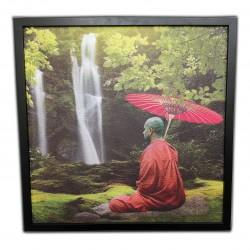 Skladový topný obraz - Mnich a vodopád - 300W - 630 x 630 mm