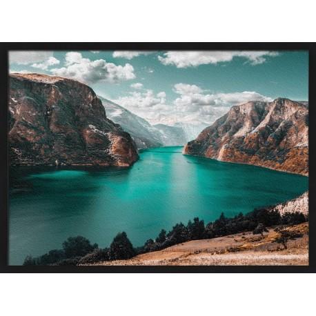 Topný obraz - Řeka v kaňonu