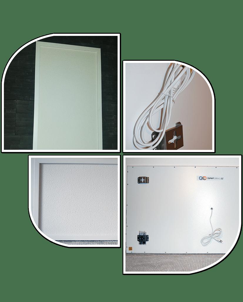 Klasický bílý infrapanel