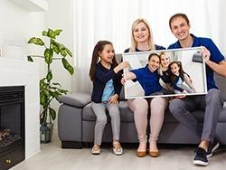 Rodina s vlastním topným obrazem