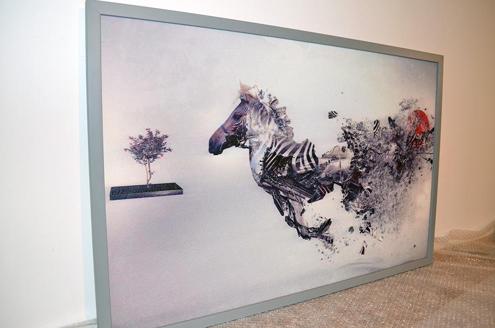 Topný obraz 540W - Abstraktní zebra